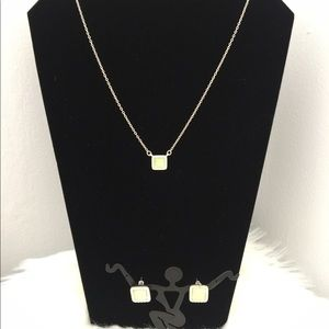 EUC Necklace and earrings set